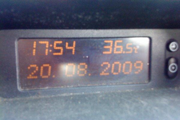 20.08.2009, 17:54, 36.5 °C