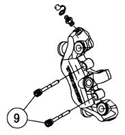 Bremsbelagfederschrauben (9)