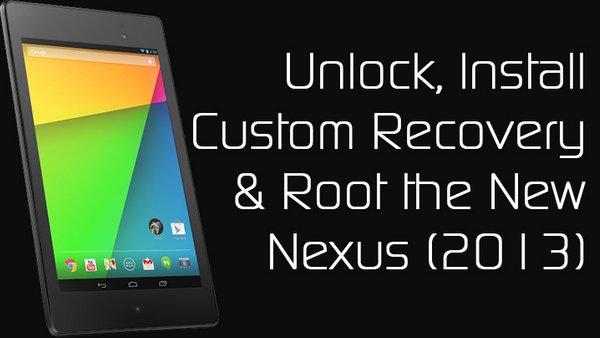 XDA logo root Nexus7 2013