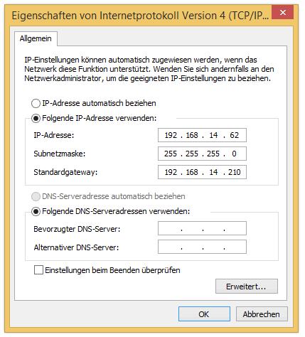 Fixed IP, no DNS