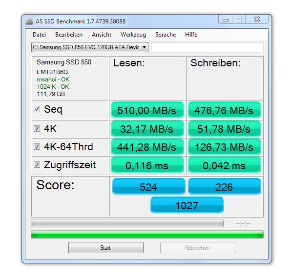 Samsung SSD 850 EVO Benchmark